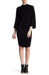 Go Couture Kimono Shirred Dress Black