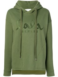 Lala Berlin Embroidered Logo Sweatshirt Green