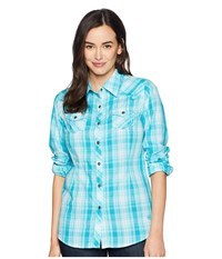 Ariat Real Stunning Snap Shirt Perfect Turquoise Long Sleeve Button Up Blue