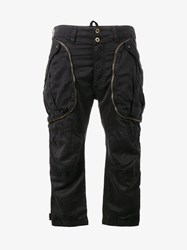 Faith Connexion Cropped Cargo Trousers Black