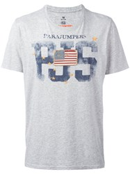 Parajumpers Flag Patch T Shirt Grey
