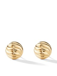 David Yurman 18Kt Yellow Gold Sculpted Cable Stud Earring 88