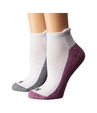 Steve Madden 2 Pack Yoga Barre Socks With Gripper Sayings Purple Heather Grey Women's Low Cut Socks Shoes
