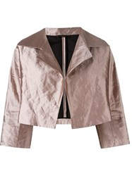 Odeeh Wide Lapel Jacket Pink And Purple