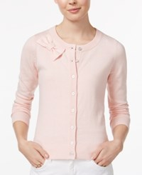Maison Jules Bow Cardigan Only At Macy's Pink Cloud