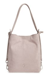 Louise Et Cie 'Jael' Convertible Leather Backpack Grey Wisteria