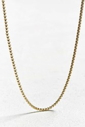 Urban Outfitters Box Link Long Chain Gold