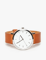 The Horse Silver Tan Band Watch