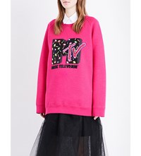 Marc Jacobs X Mtv Wool Blend Sweatshirt Magenta