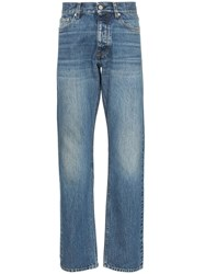 Sunflower Mid Rise Straight Leg Jeans Blue