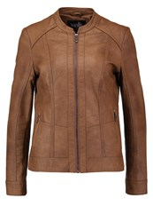 Wallis La Mont Faux Leather Jacket Tan Brown