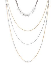 Saks Fifth Avenue Multi Layered Necklace Gold