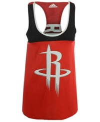 Adidas Women's Houston Rockets Colorblock Tank Red