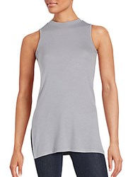 Saks Fifth Avenue Red Ribbed Sleeveless Top Heather Grey