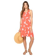 Volcom Pine For Me Dress Pistol Punch Women's Dress Orange