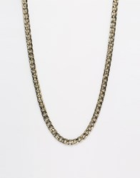 Asos Heavy Chain Necklace In Gold And Black Gold