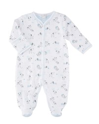 Kissy Kissy Dogs Day Out Footie Pima Playsuit Size Newborn 9 Months Blue
