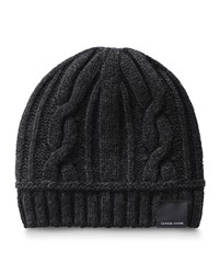 Canada Goose Cable Knit Toque Beanie Hat Black