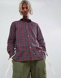 Sixth June Oversized Shirt In Red Check