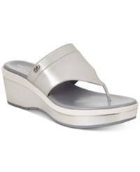 Cole Haan Cecily Grand Thong Sandals Women's Shoes Silver