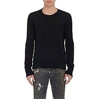 R 13 R13 Men's Distressed Edge Sweater Black Blue Black Blue