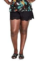 City Chic Plus Size Women's Summer Love Drawstring Shorts Black