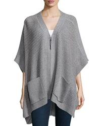 Loma Zip Front Wool Cashmere Poncho