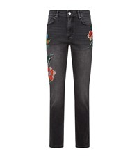 Claudie Pierlot Embroidered Jeans Black