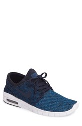 Nike Men's 'Stefan Janoski Max Sb' Skate Shoe Blue Obsidian Photo Blue