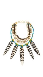 Erickson Beamon Imitation Pearl Safari Necklace Multi