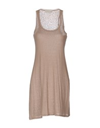 Alysi Short Dresses Light Brown