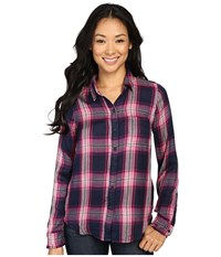 Lucky Brand Duo Fold Plaid Shirt Pink Multi Women's Clothing