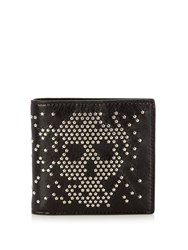 Alexander Mcqueen Studded Skull Leather Wallet Black