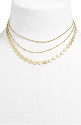 Baublebar Sophia Layered Collar Necklace Gold