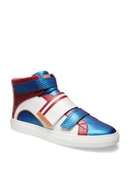 Bally Herick Grip Tape Leather High Top Sneakers Multi