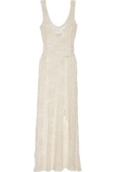 Miguelina Victoria Crocheted Cotton Lace Maxi Dress