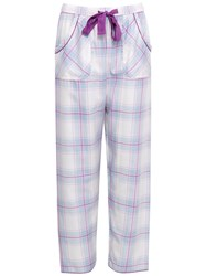 Cyberjammies Elsie Check Pyjama Bottoms Blue Purple