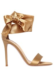 Gianvito Rossi 100Mm Bow Ankle Strap Satin Sandals
