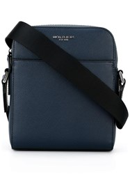 Michael Kors Zip Up Messenger Bag Blue