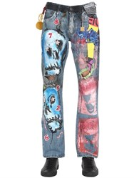 Patricia Field Art Fashion Scooter Laforge Hand Painted Denim Jeans