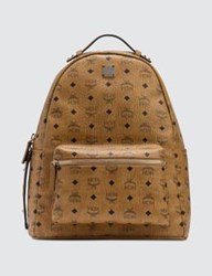 Mcm Stark Backpack With Nylon Straps