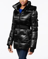 S13 Belted Shimmer Down Puffer Coat Oxford
