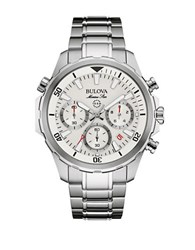 Bulova Marine Star Stainless Steel Chronograph Diving Watch 96B255 Silver