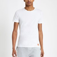 Superdry White Slim Fit T Shirt 2 Pack