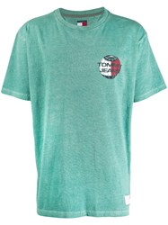 Tommy Jeans Summer Globe Printed T Shirt Green