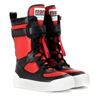 Marc By Marc Jacobs Leather Platform Boots Red Black