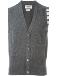 Thom Browne Buttoned Vest Grey