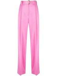 Sies Marjan High Waist Flared Trousers Pink