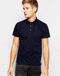 Peter Werth Jaray Double Dot Polo Navy