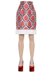 Mary Katrantzou Damask Lurex And Silk Jacquard Skirt